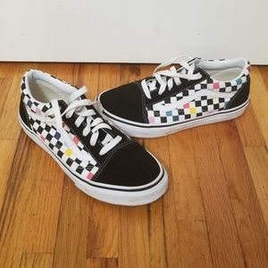 Other - Colorful checkerboard vans